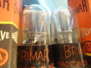 Brimar 6SL7GT Round Gray Plates